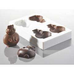 Moule à chocolat papa hippo 10 cm - Cacao Barry