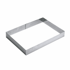 Cadre Rectangulaire inox pour 8/10 parts - Ustensile Guy Demarle