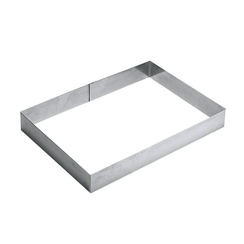 cadre rectangulaire inox pour 8 10 parts cadres et d coupoirs. Black Bedroom Furniture Sets. Home Design Ideas