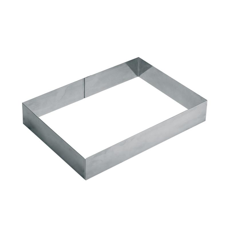 cadre rectangulaire inox pour 20 24 parts cadres et d coupoirs. Black Bedroom Furniture Sets. Home Design Ideas
