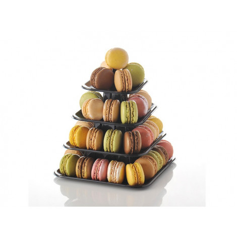 Mini pyramide à macarons 18 x 18 x 18,5 cm - Ustensile Guy Demarle