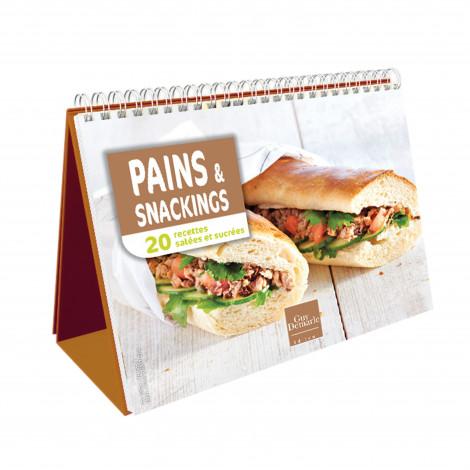 """Chevalet """"Pains et snacking"""" - Livre de cuisine Guy Demarle"""
