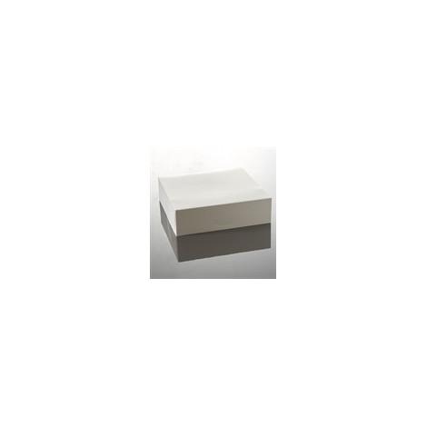Lot de 5 boites à entremets blanches 28 x 28 cm - Ustensile Guy