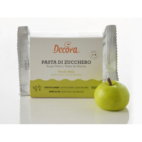 Pâte à sucre vert pomme 250 g - Décora