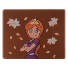 Décor en chocolat au lait Princesse avec réalité augmentée 11 g -