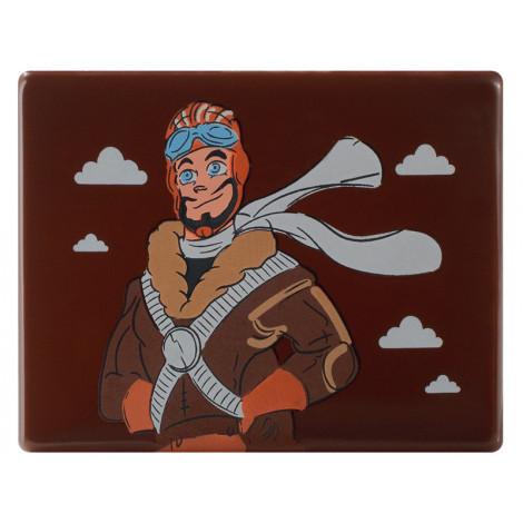 Décor en chocolat noir Aviateur avec réalité augmentée 11 g - Magic