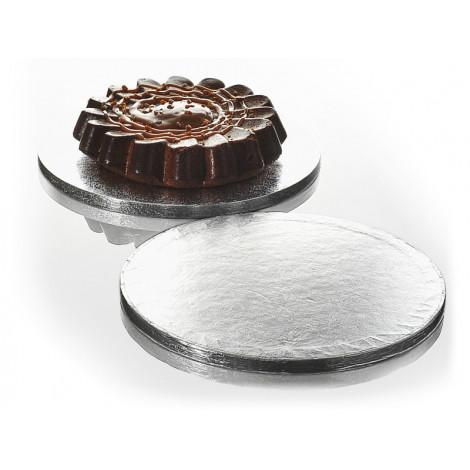 Plateau à gâteau rond argenté 25 cm - Ustensile Guy Demarle