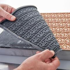 Tapis relief Cannage vénitien FLEXIPAT® - Moule Silicone par Guy