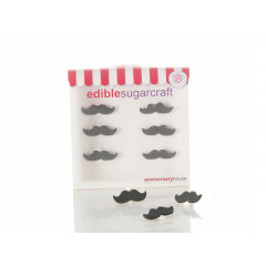 Décors en sucre 6 moustaches - Anniversary House