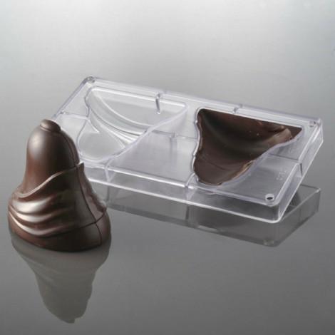Moule à chocolat cloche drapée