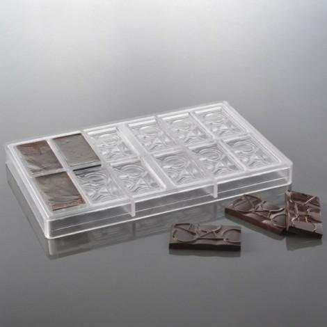 Moule à chocolat 12 mini tablettes Cacao