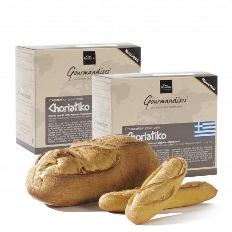Lot de 2 préparation pour pain Choriatico