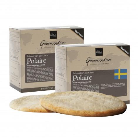 Lot de 2 préparation pour pain Polaire