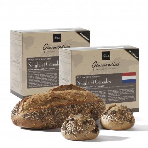 Lot de 2 préparation pour pain Seigle et Céréales