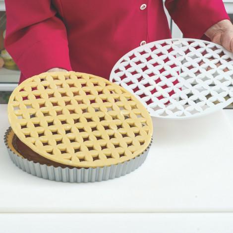Plaque découpoir dessus de tarte - Arabesque