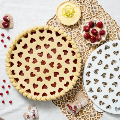 Plaque découpoir dessus de tarte - Coeurs