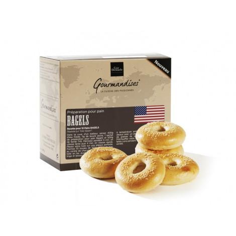 """Préparation pour pain """"bagels"""", 3 sachets de 100 g - Gourmandises"""