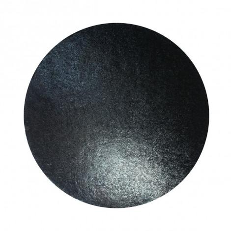 Plateau à gâteau rond noir, diam 25 cm
