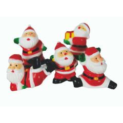 Lot de 5 décorations : Petits Père Noël