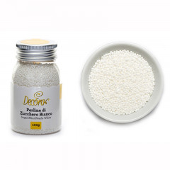 Mini perles blanches, 100 g