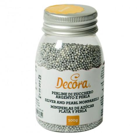 Perles sucrées argentées, 100 g