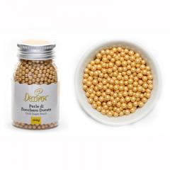 Perles sucrées dorées, 100 g