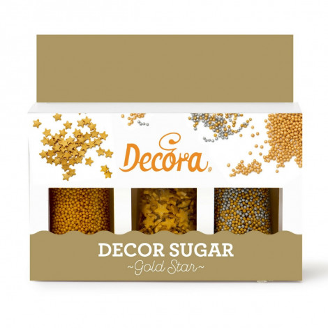 Kit décors sucrés GoldStar, 3 x 25 g