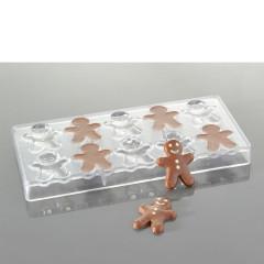 Moule à chocolats – Bonhommes de pain d'épices (10 empreintes pour 10 bonhommes x 11 gr)