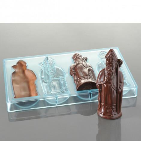 Moule à chocolats – St Nicolas (4 empreintes pour 2 St Nicolas)