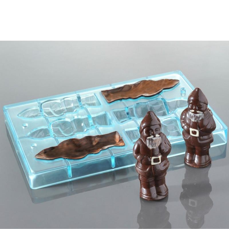 moule chocolats p res no l 6 empreintes pour 3 p res no l. Black Bedroom Furniture Sets. Home Design Ideas