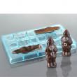 Moule à chocolats – Pères Noël (6 empreintes pour 3 Pères Noël)