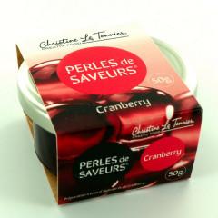 Perles de saveurs Cranberry, 40 ml