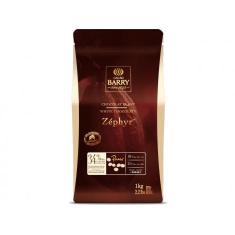 Pistoles de chocolat blanc 34% Zephyr 1 kg