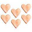 Décors en sucre x6 : Cœurs or rose, 3 cm