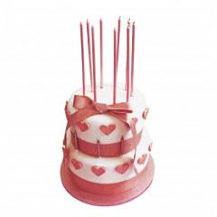 Ruban à gâteau or rose 1 m