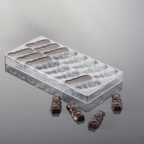Moule à chocolat - Lapins rieurs (16 empreintes x 11 gr)