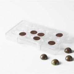 Moule à chocolat - 18 demi-sphères, diam. 2,5mm (ou 9 sphères 3D)