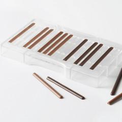 Moule à chocolat - 18 demi-cigarettes, 8x85 mm (ou 9 cigarettes 3D)