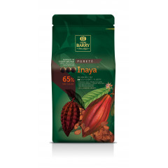 Pistoles de chocolat noir 65% Inaya 1 kg - Cacao Barry