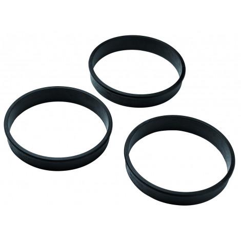 Lot de 6 cercles à tarte, D100mm H20mm