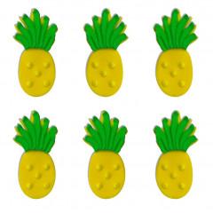 Décors en sucre ananas x 6
