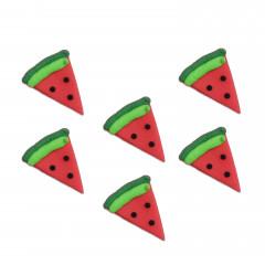 Décors en sucre pastèques x 6