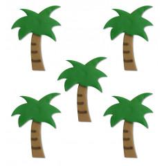 Décors en sucre palmiers x 5