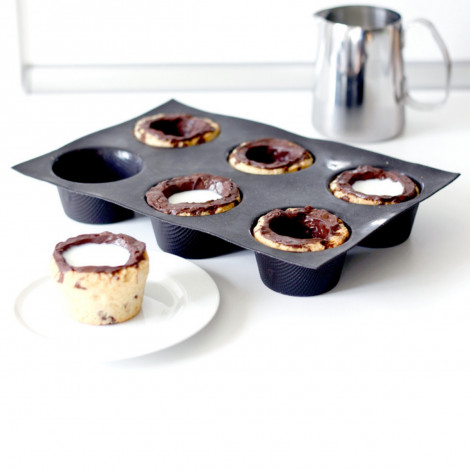 Moules 6 muffins droits FLEXIPAN® ORIGINE