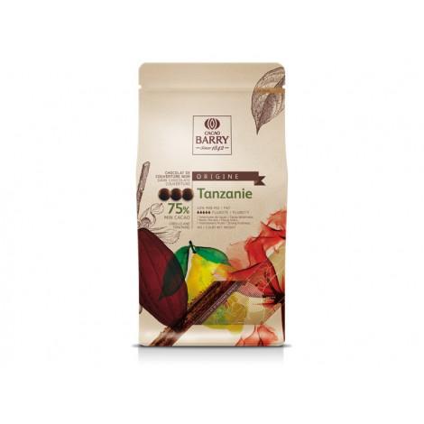 Pistoles de chocolat noir 75% Tanzanie 1 kg