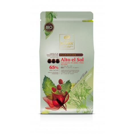 Pistoles de Chocolat de couverture noir 65% Bio - Alto del Sol (Pérou) 1kg, Cacao Barry
