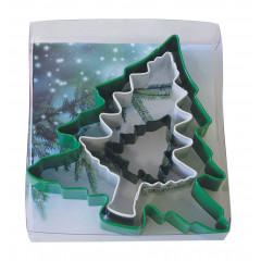 Kit de 3 découpoirs arbres de Noël, 4,3 à 12 cm