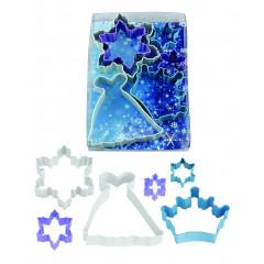 Kit de 6 découpoirs Reine des neiges 4,4 à 10,2 cm