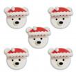 Décors en sucre x5 : Petites têtes d'ours 3,5 cm
