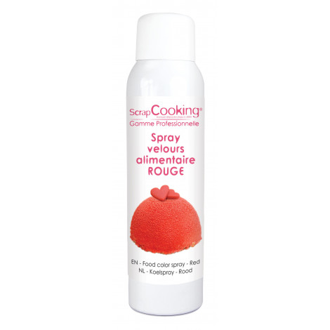 Spray velours alimentaire rouge 150 ml